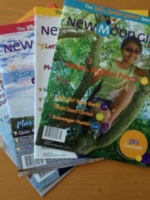 five copies new moon girls magazine