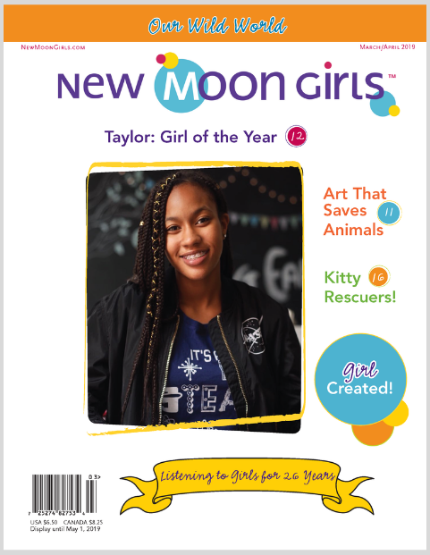 March-April New Moon Girls mag cover