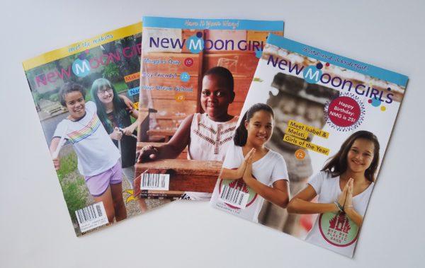3 covers of new moon girls magazine 2018