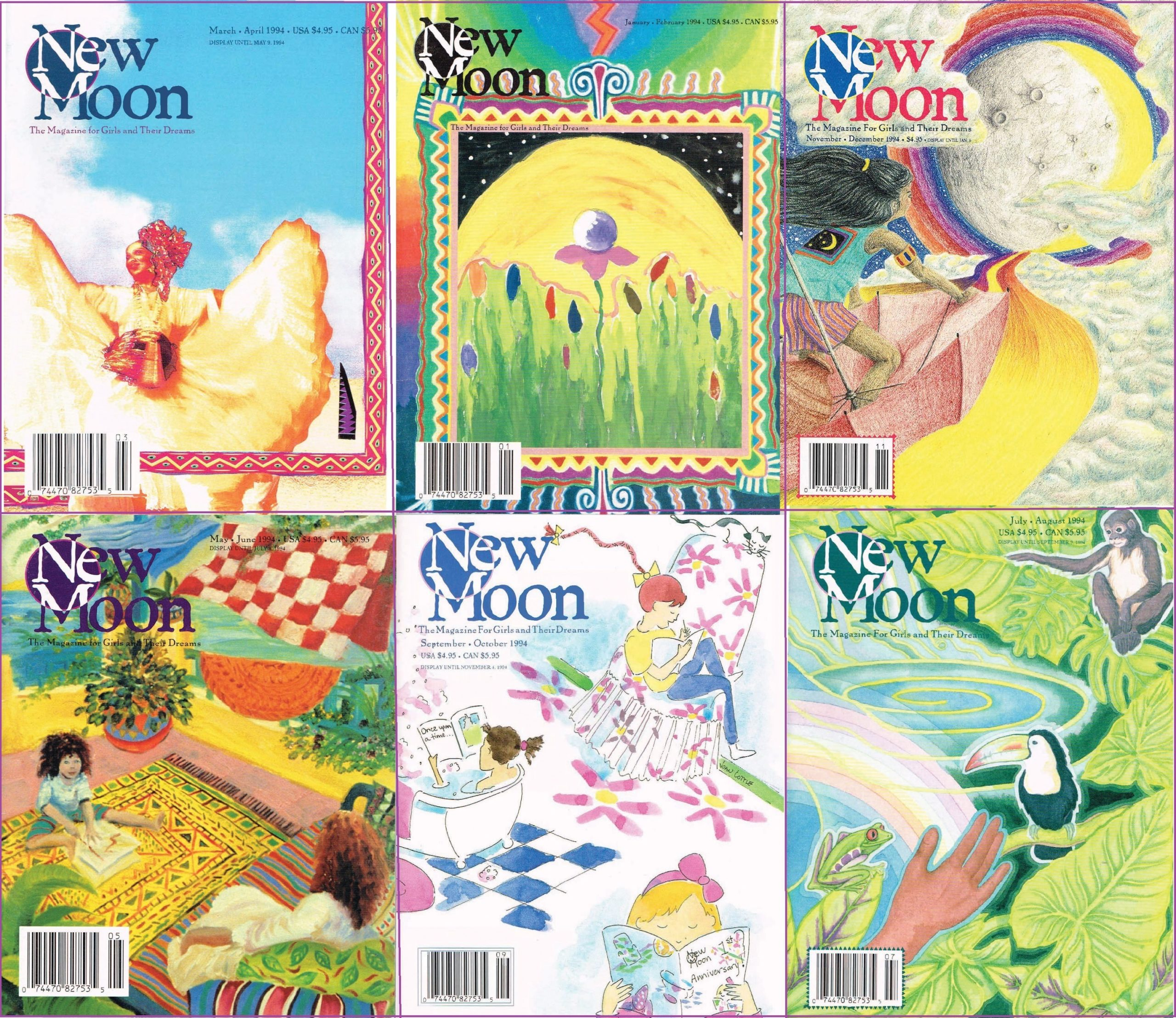 emotional and social connection through classic New Moon Girls magazines
